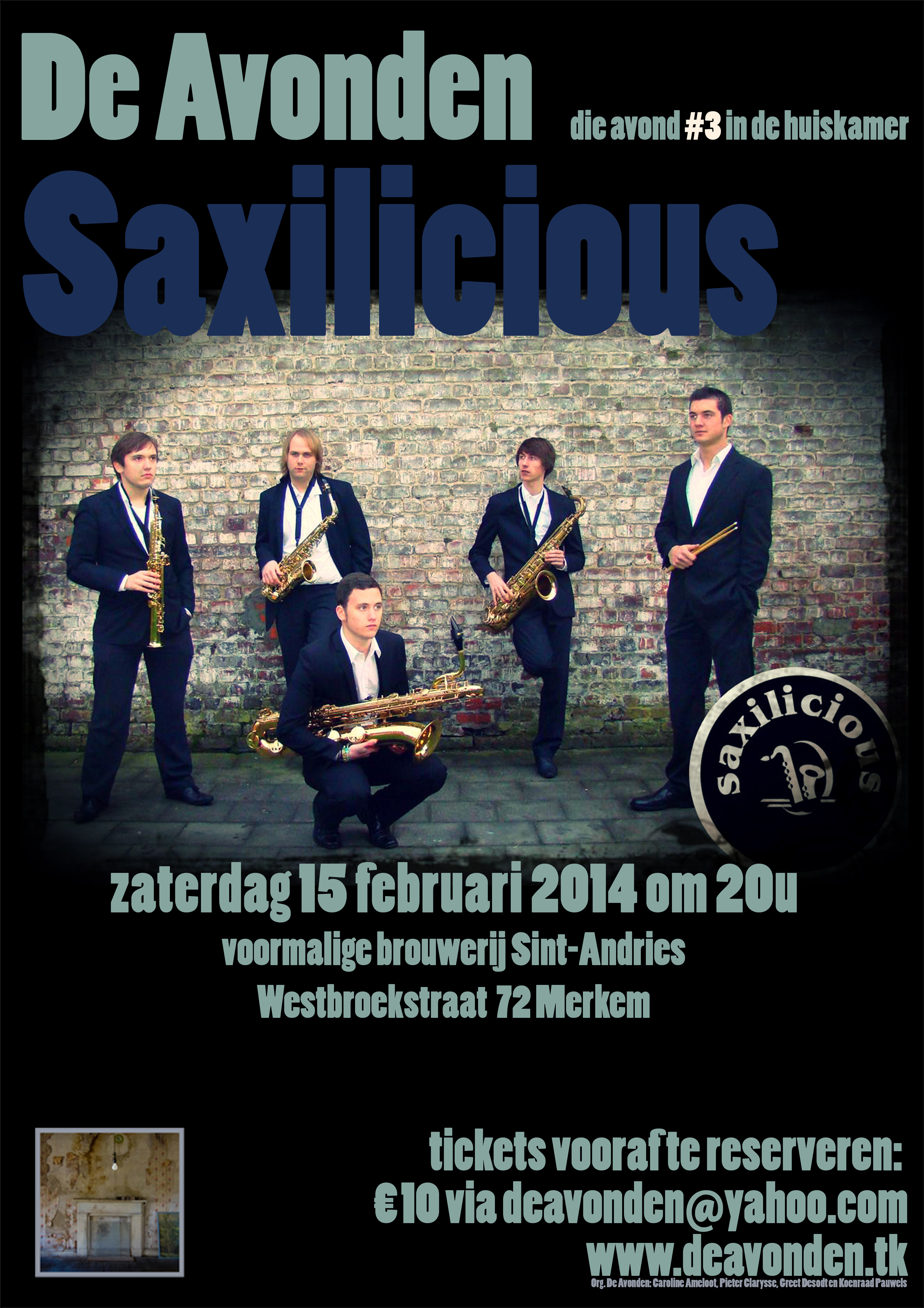 Affiche Saxilicious versie 30